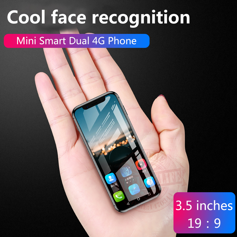 Anica K-TOUCH I9 3G + 32G plus petit mini double 4G Ultra mince 3.5 écran Face ID double SIM double veille Android 8.1