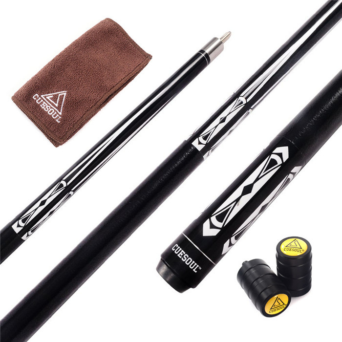 CUESOUL 58 inch Canadian Maple Wood Pool Cue Stick 13mm Tips Billiard Cue with Clean Towel Joint Protector CSBK002