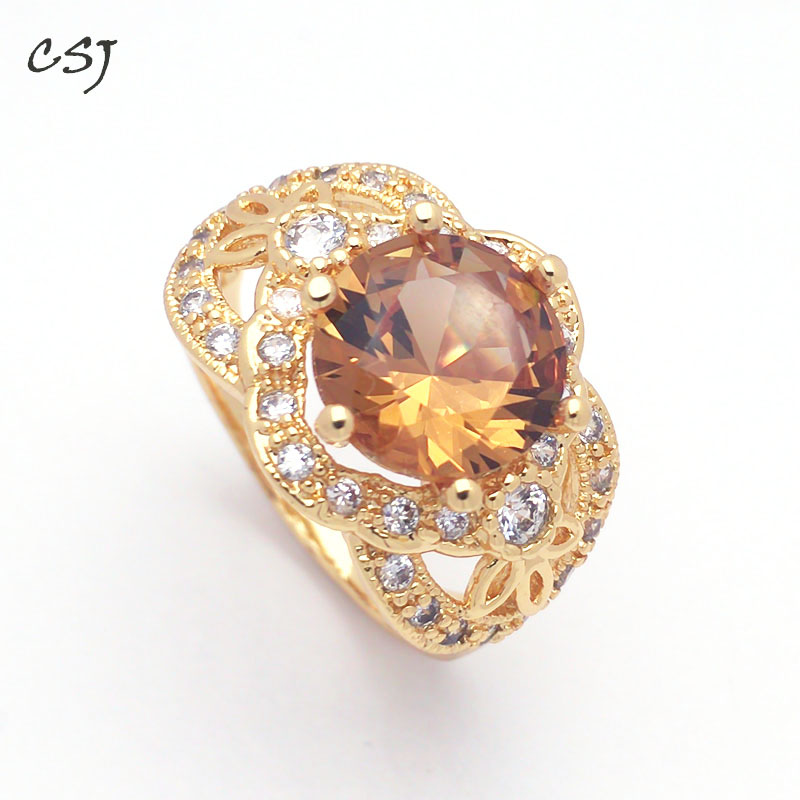 CSJ New Design Zultanite Ring 10MM Created Sultanite Color Change  Fine Jewelry Women Party Wedding Gift For Women