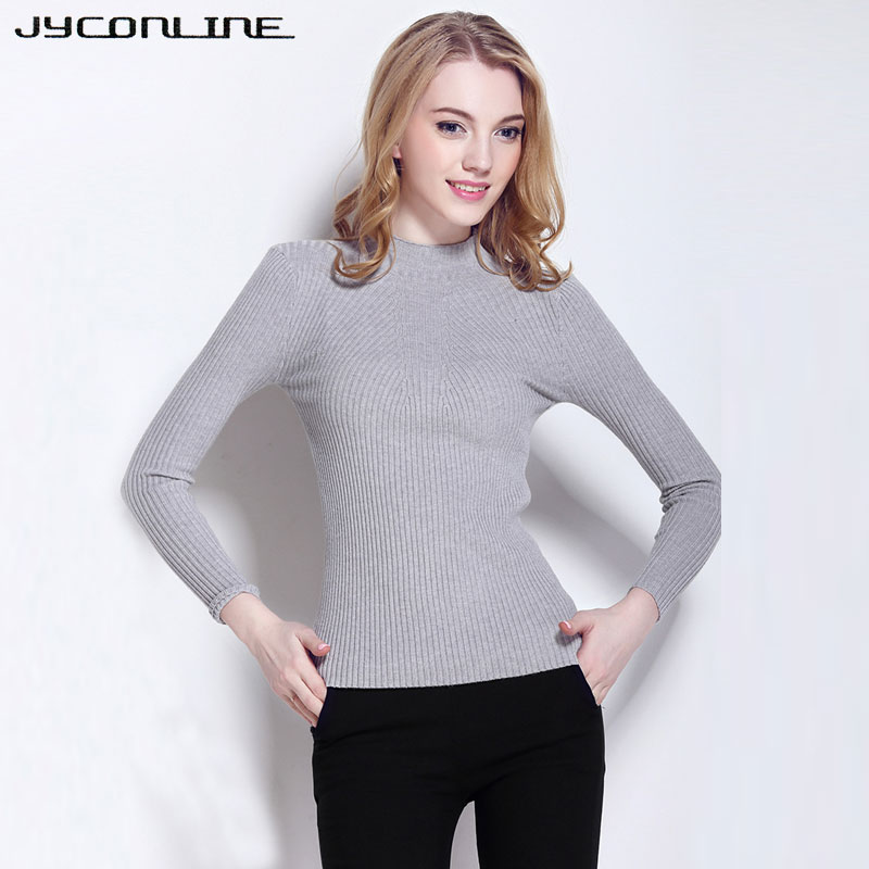 6978661751 JYConline Women Sweater Pullover Tops Elastic Jumper Women Knitted Sweaters  And Pullovers Female Long Sleeve Pull Femme Autumn