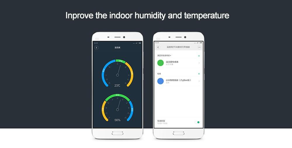 Oryginalny Xiaomi Mi Inteligentny Czujnik Temperatury i Wilgotności, umieścić dziecko Home office Praca Z Android IOS APP 8