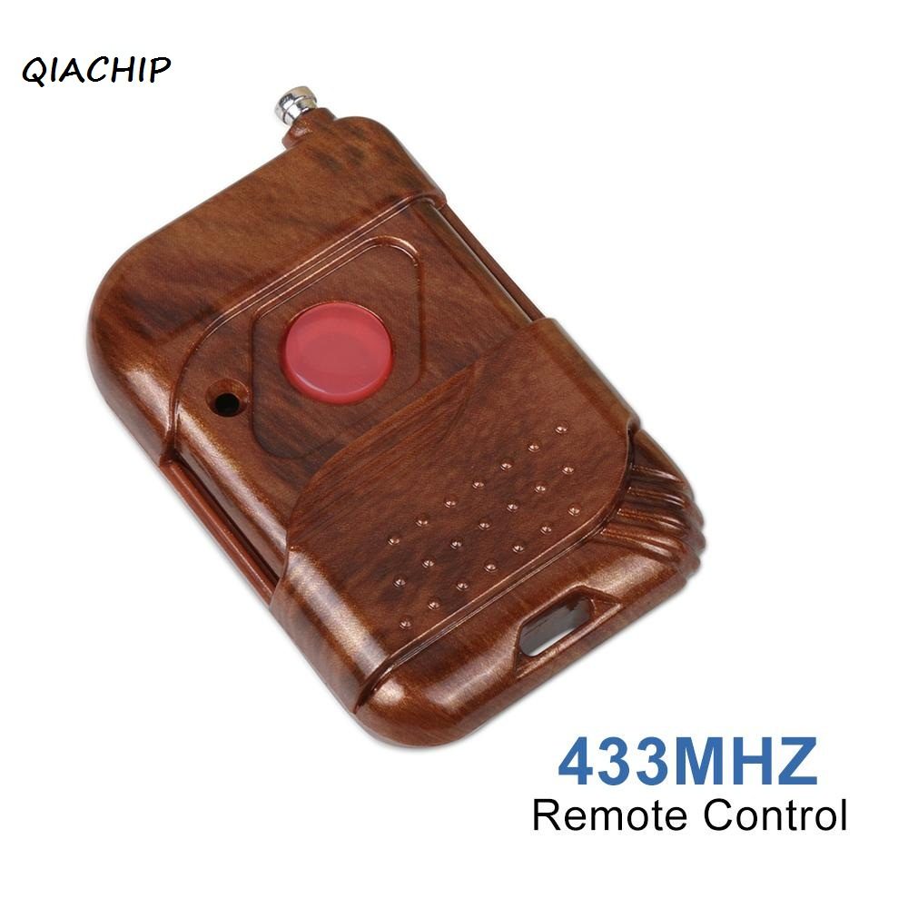 QIACHIP 433MHz RF 1 Channel DC 12v Remote Control push button lamp switch Learning Code 1527 Transmitter for Garage Door Opener