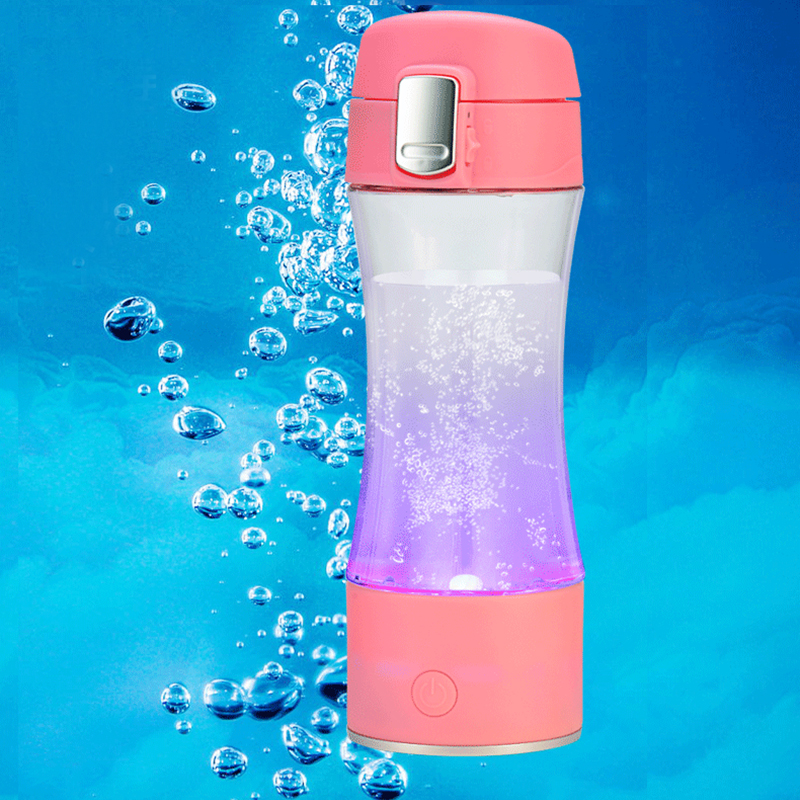 Rechargeable USB hydrogène riche générateur d'ioniseur d'eau portable verre bouteille tasse ORP hydrogène alcalin h2 fabricant d'eau 260 ml