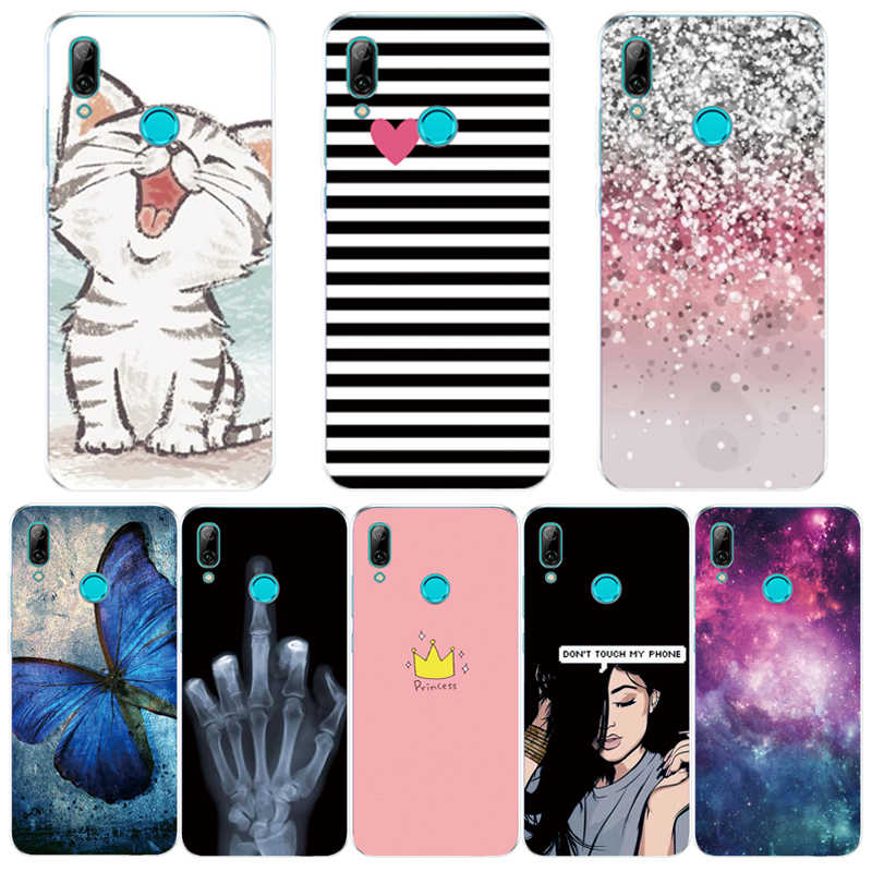 Case For Huawei P Smart 2019 Phone Case Silicone Soft TPU Cartoon Transparent Back Cover Case For Huawei P Smart 2019 PSmart