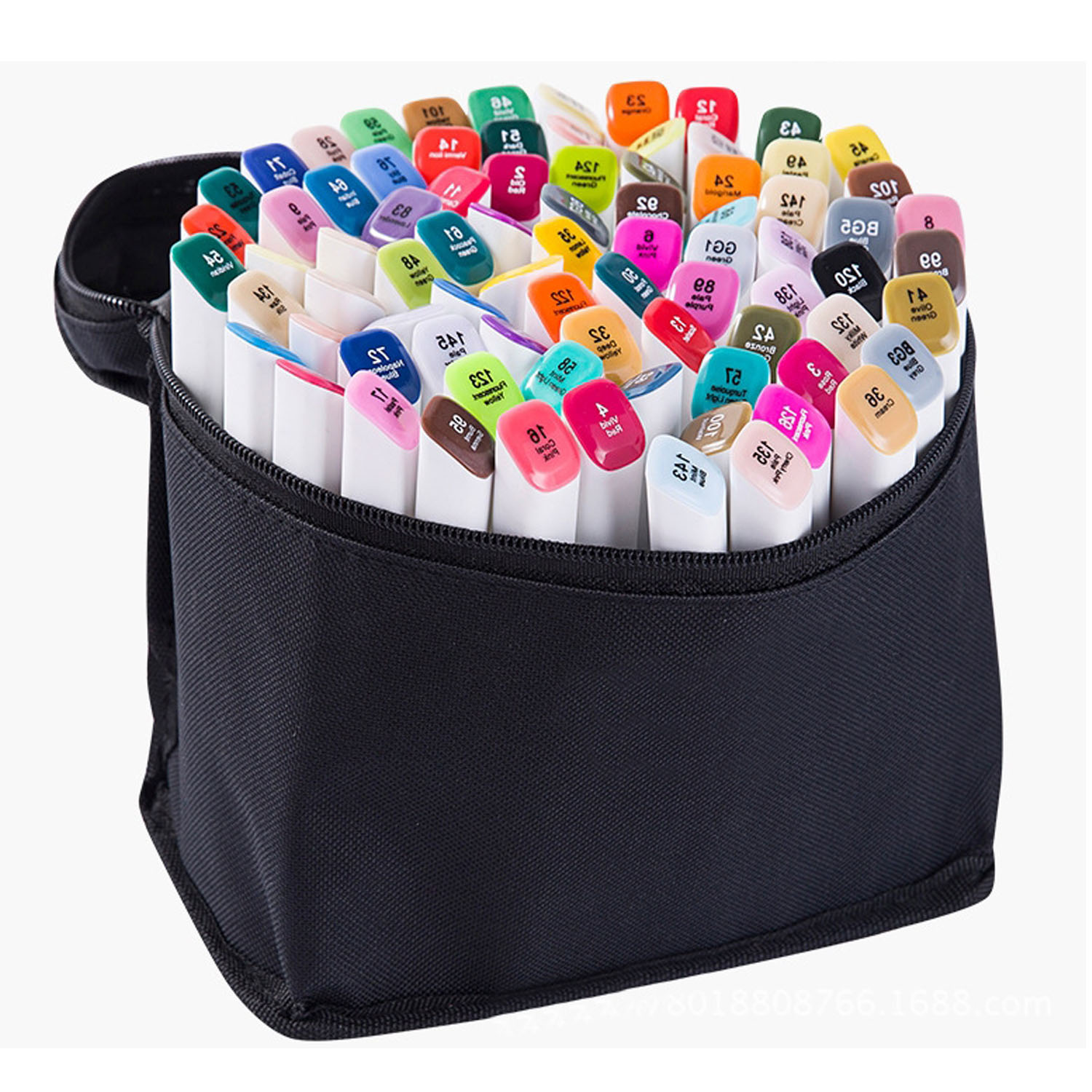 80 PCS Assorted Color Dual Tips Paint Art Sketch Twin Marker Pen Alcohol Based Ink for Art Crafting Poster Coloring Highlighting comby alcohol based twin art permanent marker pen color suit with free case