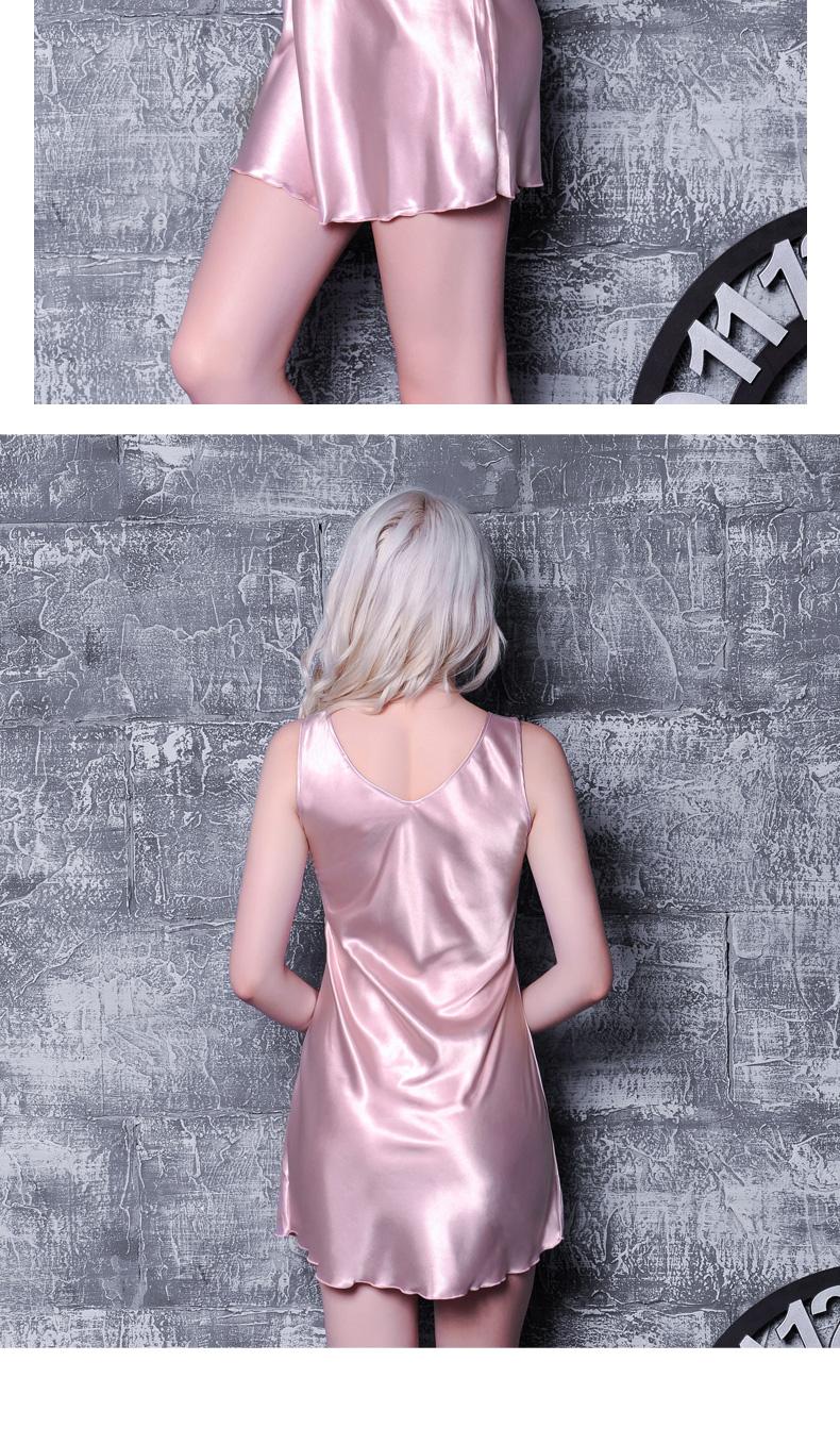 2019 Luxury Silk Night Skirt Women S Summer Nightgown Ice Sexy Sling ... 200d11796