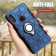 Case For Motorola Moto One Power E Plus E Play P30 Play P30 Note Shockproof Phone Cover Luxury Silicone Armor Ring Holder Case sfor phone case motorola one case luxury rubber phone case for motorola p30 play cover for moto one motorola one xt1941 fundas