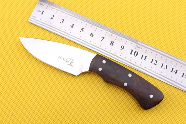 Ebony Handle Cutter Machete Bowie knife with Nylon Sheath camp tactical outdoor combat hunt survival self defense military army