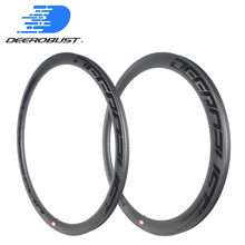 700c 38mm/50mm x 25mm Asymmetric Tubeless Clincher Carbon Bicycle Rims Cyclocross Bike Rim Road Disc CX Wheel 24 28 Holes UD Mat(China)