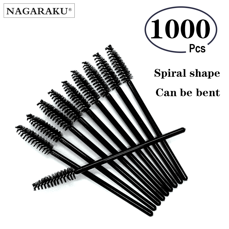 1000pcs lot Micro Durable Disposable Eyelash Extension Individual Applicators Mascara Brush For Women Eyelash Glue Cleaning