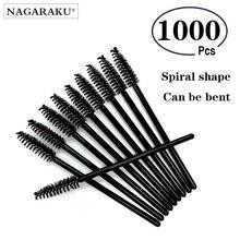 NAGARAKU Extension de cils Mascara brosse 1000 pièces lot Micro Durable jetable pour cils colle outil de nettoyage