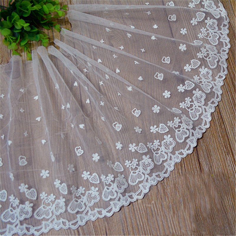5yards 1.5cm Width White Lace Ribbon Decorative Lace Trim Fabric Wedding Birthday Christmas Craft Diy Sewing & Skirt Accessories Street Price Home & Garden