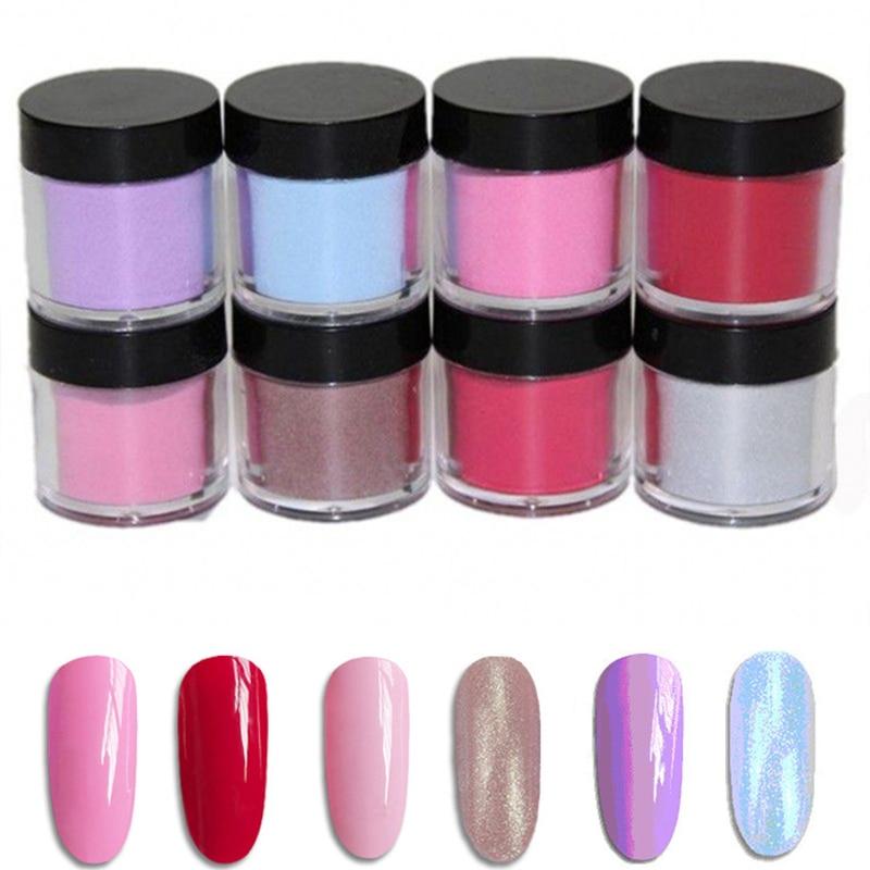 Salon Grade Nail Dipping Acrylic Powder Quick Dip 5g 10g 50g 100g Bulk Dip Nail Color Powder 8 Colors Choice Natural Dry in Nail Glitter from Beauty Health