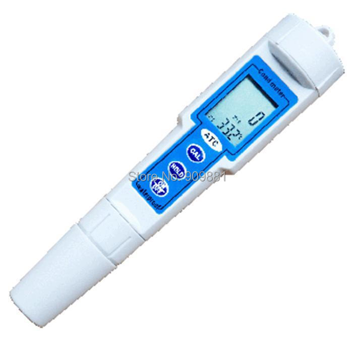 Brand New 0 19.99 mS/cm Resolution 0.01mS Digital LCD ATC Pocket Portable Conductivity Meter Pen Conductivity Measurement