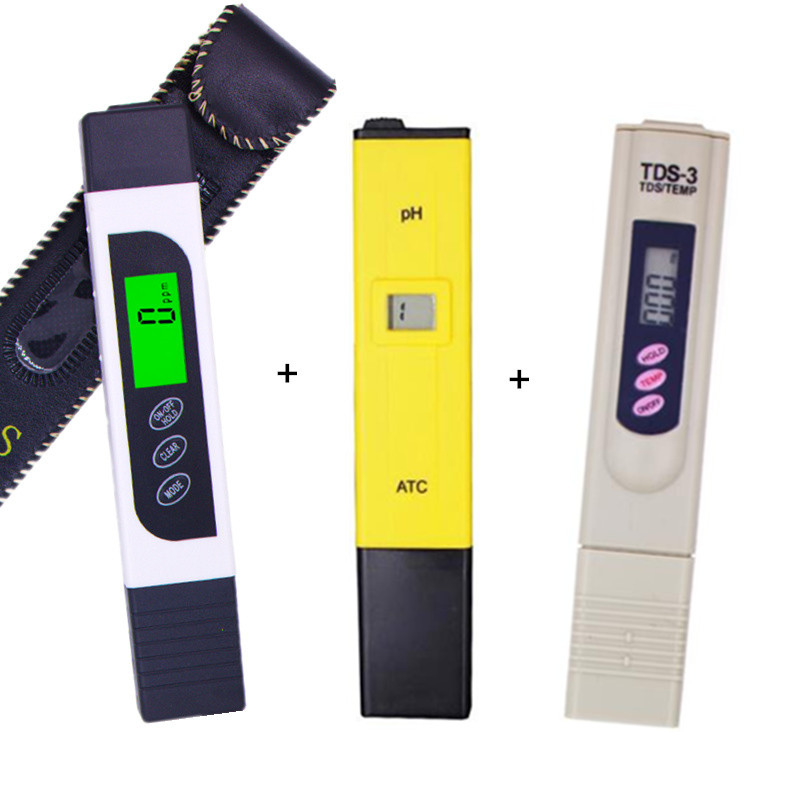 LCD display EC TDS meter with backlight +ph tester ATC + tds monitor ppm Stick Water Purity water quality test 15% off 0 9999ppm pen type digital tds meter handheld lcd auto calibration tds tester aquarium pool water quality ppm atc temp meter