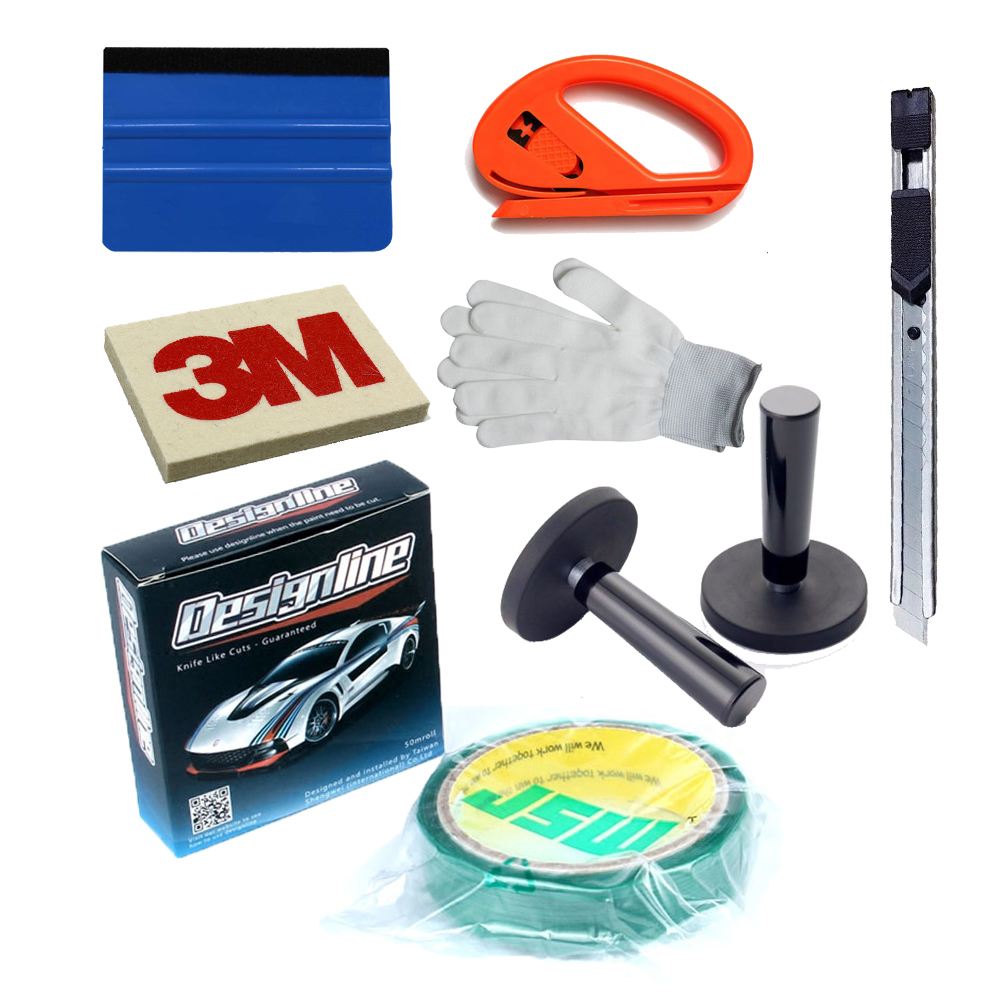 3M Felt Squeegee Decals Sticker Vinyl Film Installation Car Wrap Applicator Tool Package + Knifeless tape design line 50m/Roll diy small car cleaning sets film sticking tool squeegees scrapers sunvisor film sticking tool