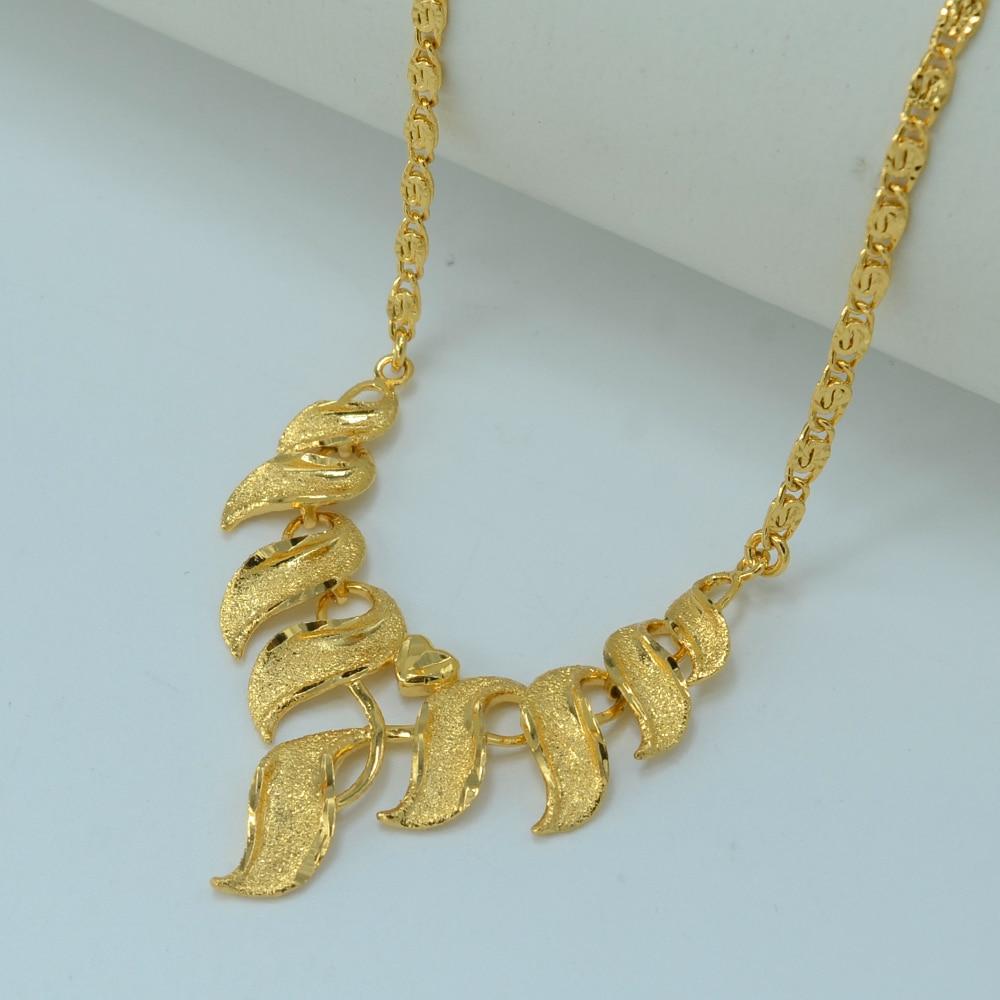 Anniyo Bride Wedding Necklace Gold Color Africa Necklaces Jewelry