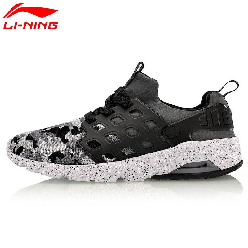 Li-Ning Homens Bolha Ace Walking Sapatos FIOS MONO Forro de Almofada de Ar Respirável Tênis Calçados Esportivos AGLM019 YXB077