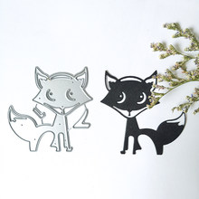 Fox Animal Morrer Corte De Metal Morre Novo 2019 Cut Die Molde Molde Faca de Lâmina Soco Morre Stencils Scrapbook Do Ofício De Papel(China)