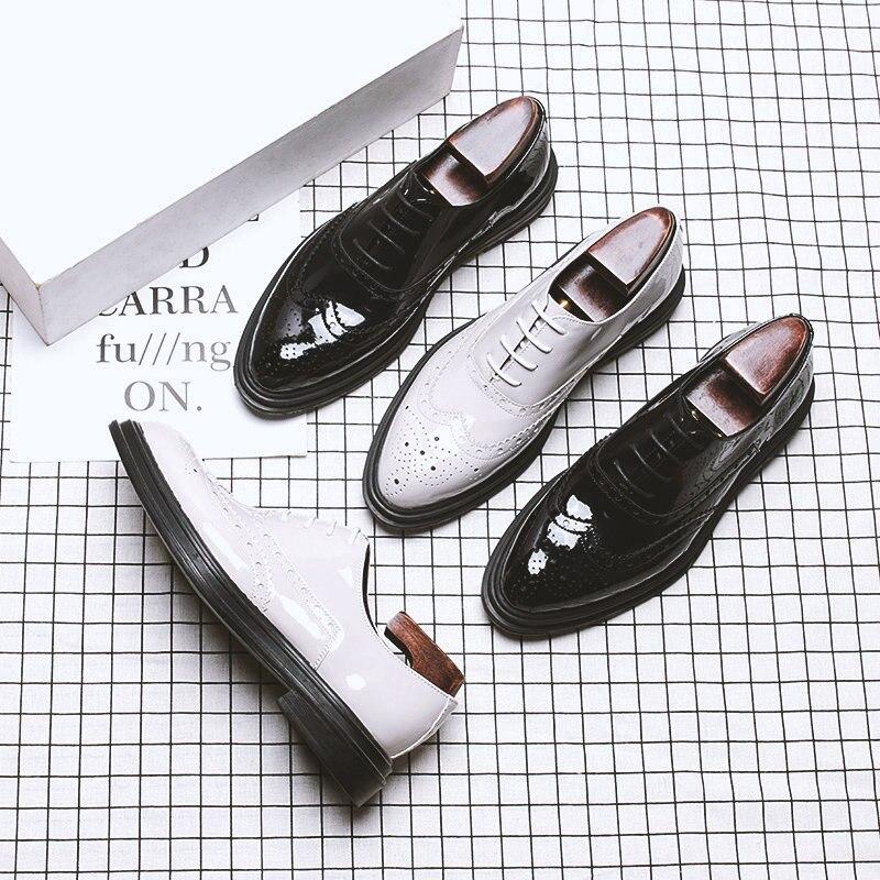À Casual Couleur Conseils Aile De Affaires Chaussures Sculpture Bout Classique Blanc Homme Lacets Black Richelieu Mariage Pointu white Hommes qvnYw7