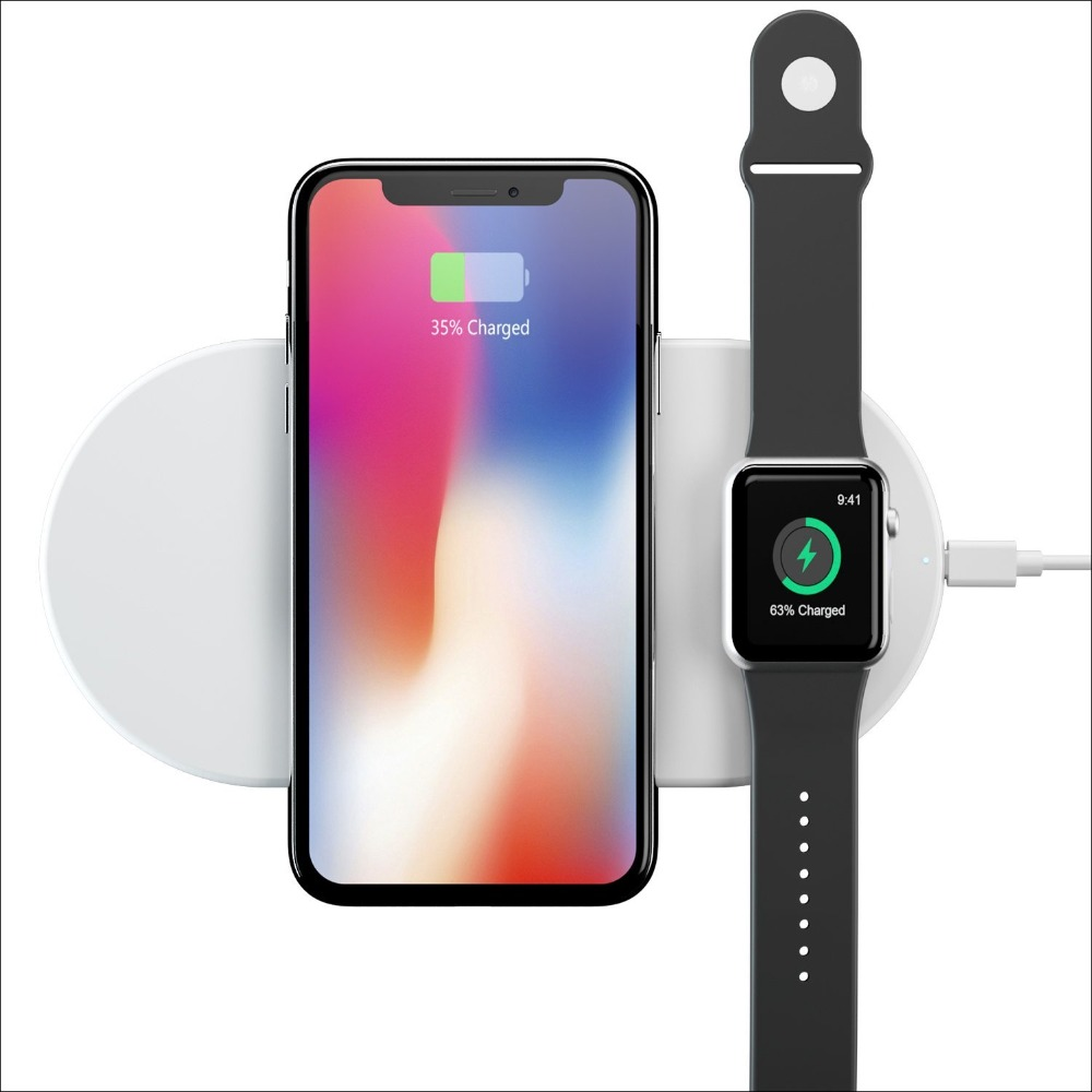 Wofalo wireless Charge For iPhone X 8 8plus Wireless Charger Pad Fast Charging For Apple Watch Wireless Charger for Samsung s9