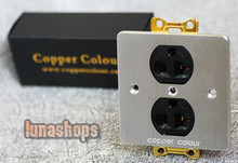 Copper Colour CC EX126HE Golden OFC Power Socket 20A 110-250V For Home Theater