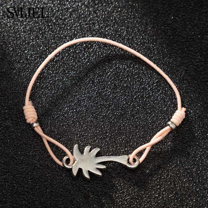 Smjel nowy drzewo kokosowe Rope Chain bransoletki bransoletki prosta moda palma bransoletka dla kobiet mężczyzn hawaje biżuteria plażowa prezent