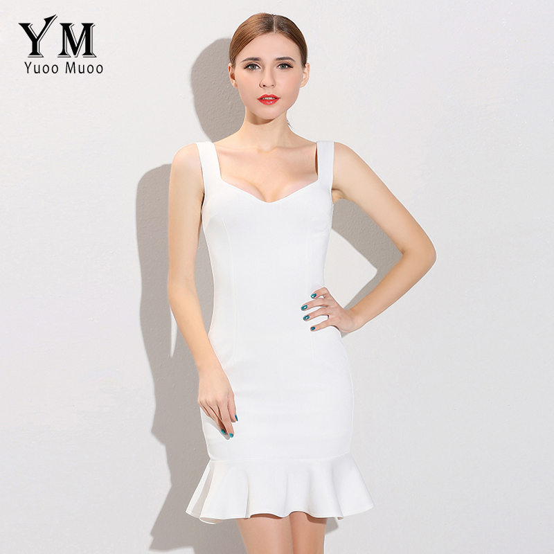 YuooMuoo 2016 New Fashion Women Bandage Dress Brand Bodycon Party Dresses Celebrity-Inspired Sexy White Dresses Women Clothing ...