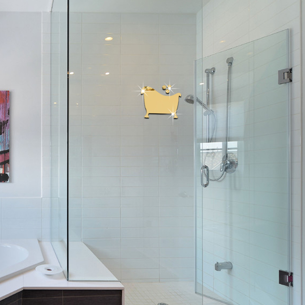 3D Mirror Wall Stickers 10 8 CM Mirror Home Decor DIY Movable Mirror For  Bathroom. Compare Prices on Movable Bathroom Mirror  Online Shopping Buy Low