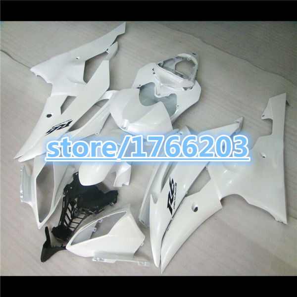 Fit For white YZFR6 <font><b>2008</b></font> 2009 2010 2011 <font><b>YZF</b></font> <font><b>R6</b></font> <font><b>2008</b></font>-2011 <font><b>YZF</b></font> <font><b>R6</b></font> ABS <font><b>Fairing</b></font> Plastic Bodywork <font><b>Set</b></font> Ning image