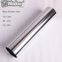 Sunice 0 7x10m 28inx33 33ft 88 IR Rej Mirror Silver Commercial Window Film Exterior Building Tint
