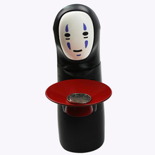 Hayao Miyazaki Spirited Away No Face Man Kaonashi Automatic Bank Eaten Coin Music Hiccups Singing Mute Money Box Batteried Toy