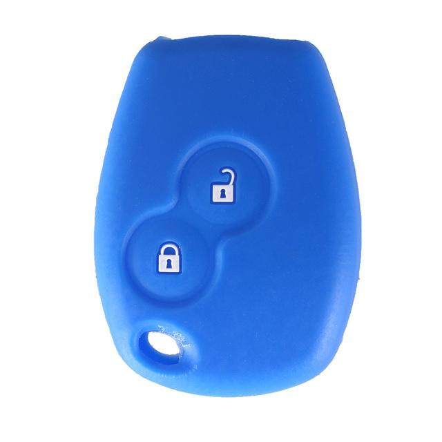 KEYYOU Silicone Car Key Case Cover 2 Buttons For Renault Kangoo DACIA Scenic Megane Sandero Captur Twingo Modus