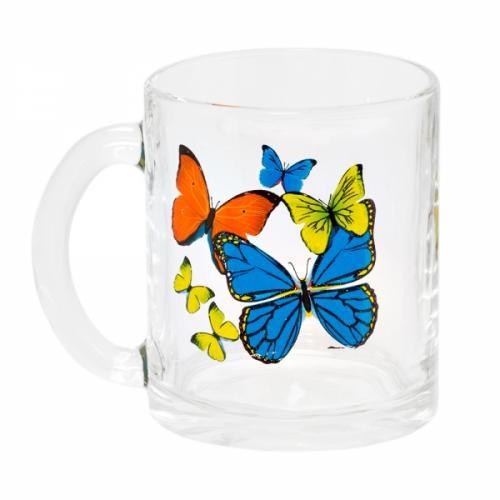 цена на Mug Experienced glass factory, Tea, Dance butterfly, 300 ml
