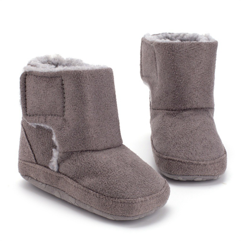 Winter Warm Baby Boys Girls Shoes Winter Infants Warm Shoes Faux Fur Girls Baby Booties Leather Boy Baby Boots
