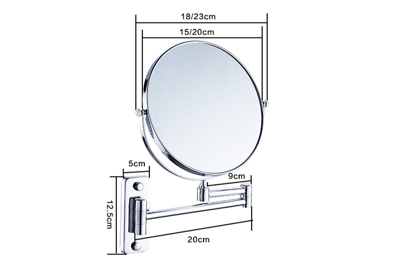 Spiegel Badkamer Float Spiegel Vergrotende Spiegel Dubbelzijdig ...