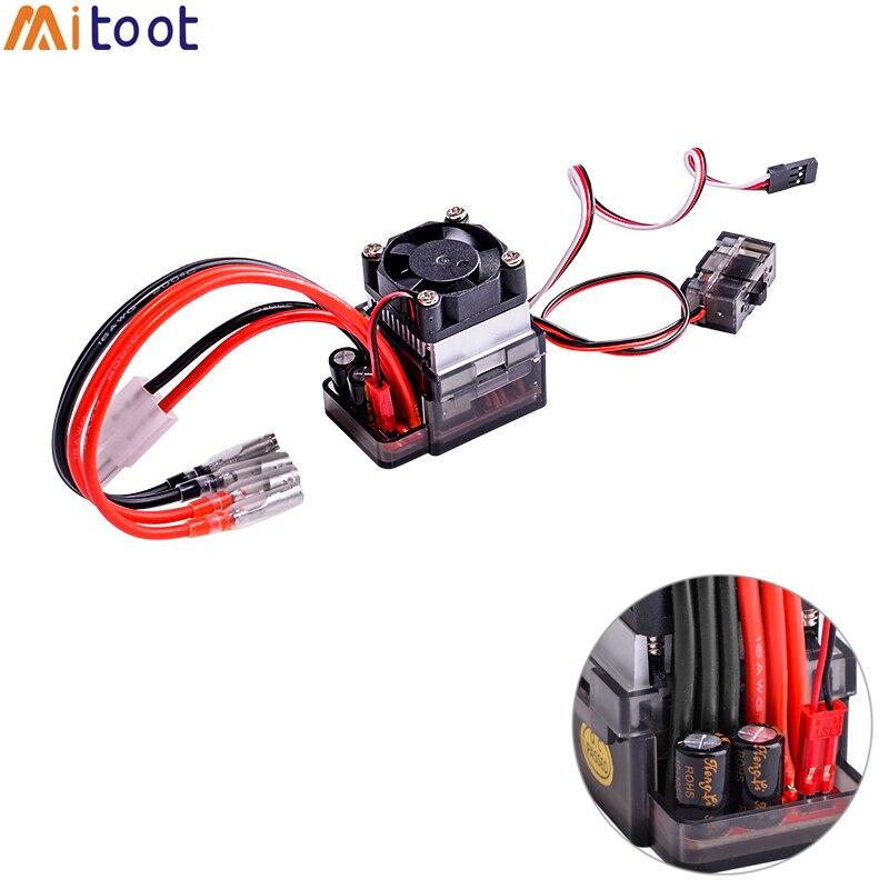 5 stks/partij 7.2 16 v High Voltage ESC 320A Brushed Speed Controller Fan Voor RC Auto Vrachtwagen Boot-in Onderdelen & accessoires van Speelgoed & Hobbies op  Groep 1