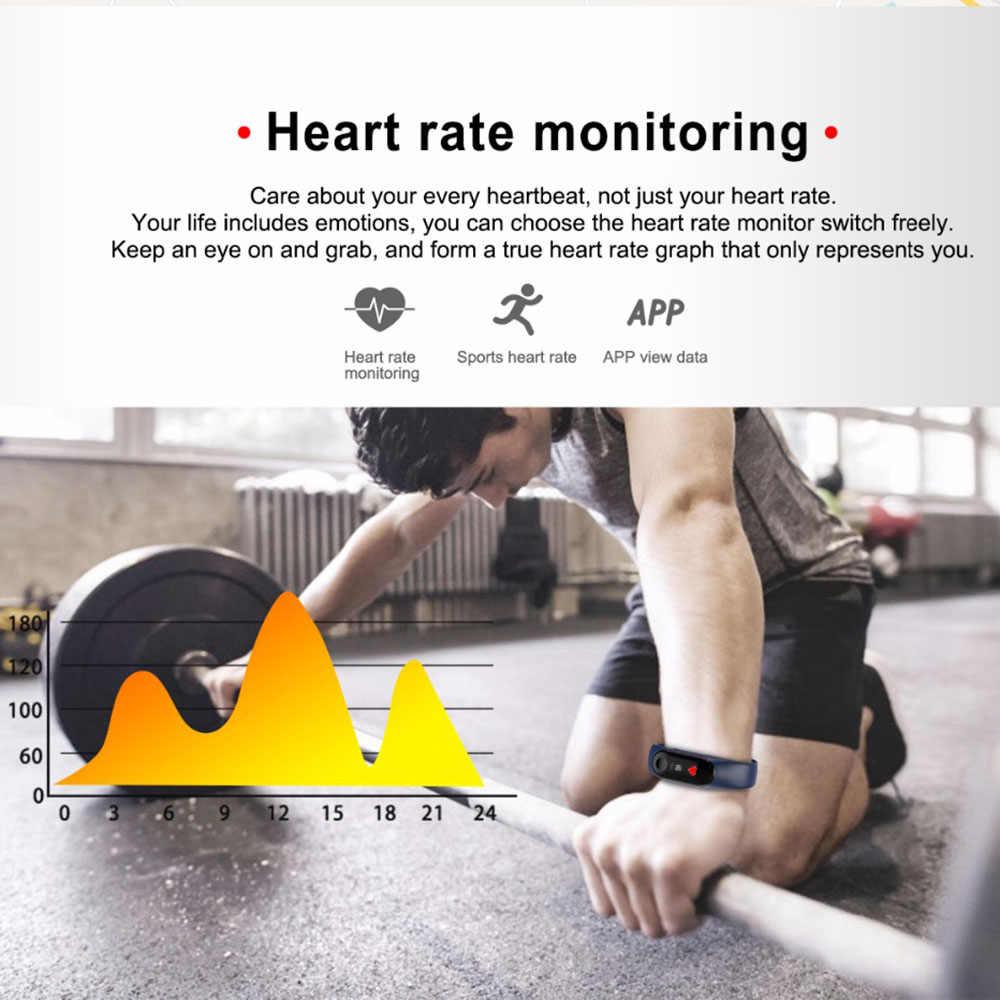 PK M4 M3 Banda Inteligente Pulseira Saúde freqüência cardíaca Monitor De Freqüência Cardíaca Pedômetro Pulseira para Mulheres Dos Homens de Esportes de Banda Inteligente