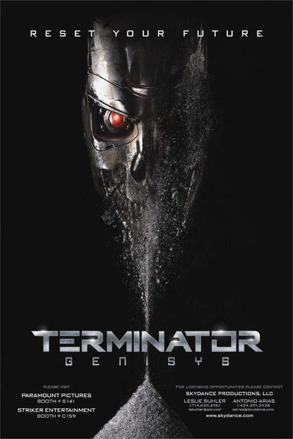 DIY Frame RESET YOUR FUTURE Arnold Schwarzenegger Terminator Genisys Silk Movie Poster Printing