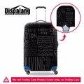 Equipaje de la carretilla del equipaje impermeable protectora cubre elástico cubiertas protectoras negro fresco tapa maleta hombres accesorios de viaje