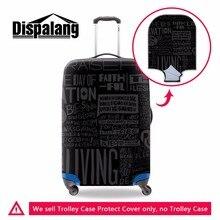 Wasserdichte gepäckschutzhüllen elastische trolley gepäck schutzabdeckungen cool black koffer abdeckung männer reise zubehör