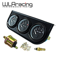 WLR STORE-52mm Electrial Triplo Kit (Voltímetro + oil Temp Bitola + Medidor De Pressão De Óleo) Sensor de Temperatura Do Carro Auto bitola WLR-TAG01