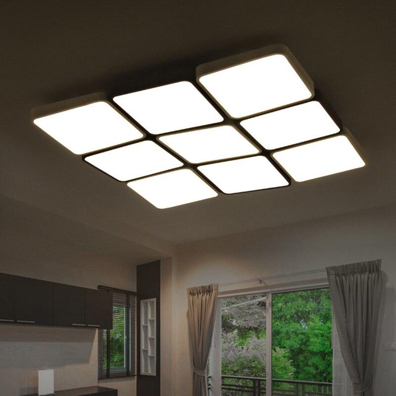 (EICEO) LED Tavan Lampa Düzbucaqlı Müasir Minimalist Ultra nazik - Daxili işıqlandırma - Fotoqrafiya 6