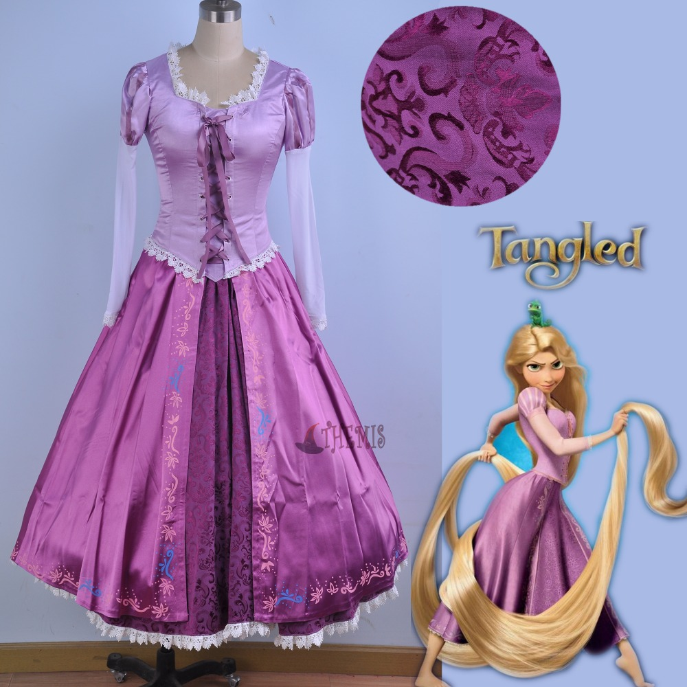Athemis Yuichiro Hyakuya Princess Repunzel Cosplay Costume dress custom made size