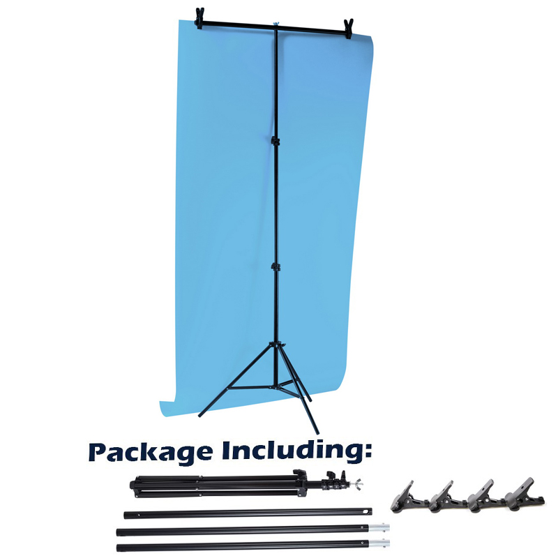 Aluminum Tripod with Cross Bar for Background Supporting T-Shape Stand PVC Backdrops Holder 40cm 200cm Extendable Height Width new arrival background fundo longbridge streetlights cubs 300cm 200cm about 10ft 6 5ft width backgrounds lk 2574