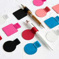 Kreative selbst-adhesive leder stift clip stoff notebook stift clip Notebook Stift Halter Notebook Zubehör