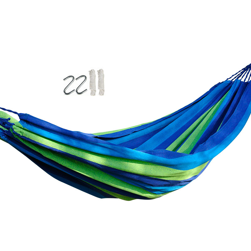 Swinging Camping Cotton Hammock Tourism Camping Hunting Leisure Fabric Stripes Outdoor hammocks стоимость