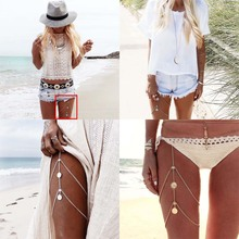 Fashion Muti layer Bohemia Tassel Pendant Body Beach Leg Chain Accessories