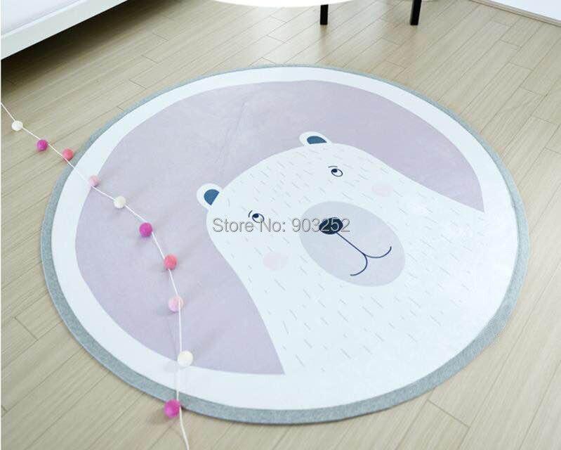 Детский игровой коврик, нескользящий коврик, размер 100 см, очень прочная ручка, толстая подкладка