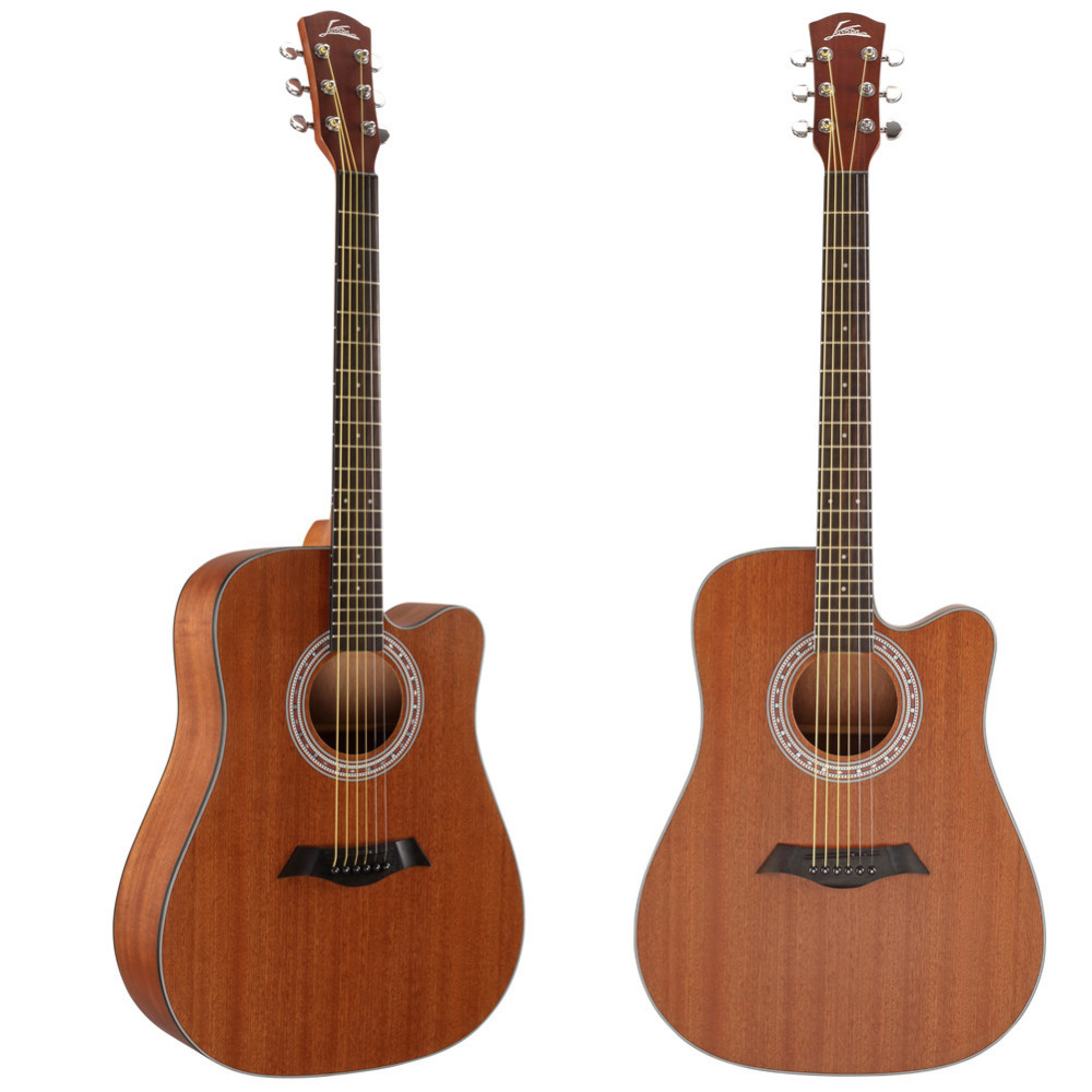40 / 41 inch Acoustic Guitar Sapele Wood Cutaway Notched 21 Tone Guitarra Position Rosewood Fingerboard Strings Instrument diduo 40 inch 41 acoustic guitar beginner entry student male and female instrument wound guitarra